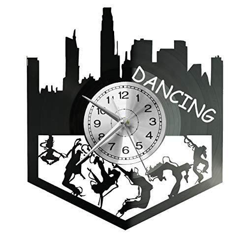Reloj de pared de vinilo, diseño retro, grande, ideal como regalo, baile