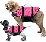 Dog Life Jacket Swimming Vest Saver with Professional Flotation Device Reflective Stripe,Adjustable Elastic