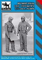 ブラックドッグ 1/32 アメリカ海軍 パイロット 1940年~1945年 セット No.1 (HAUF32074+32075) レジンキット HAUF32076