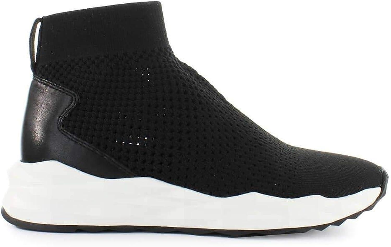 Ash Women's SOUND08 Black Fabric Slip On Sneakers