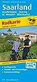 Saarland: Radkarte mit Ausflugszielen, Einkehr- & Freizeittipps, wetterfest, reissfest, abwischbar, GPS-genau. 1:100000 (Radkarte / RK)