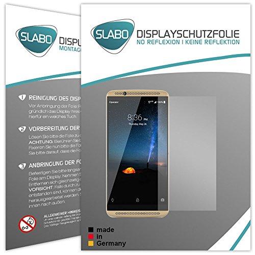 Slabo 2 x Bildschirmfolie für ZTE Axon 7 Bildschirmschutzfolie Zubehör No Reflexion MATT