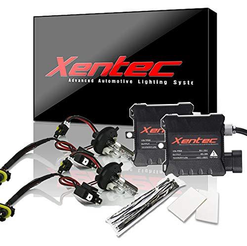 Xentec Xenon bulb H4 (HB2) 6000K Hi/Lo x 1 pair bundle with 35W Compact Digital Slim Ballast x 2 (Ultra White, high beam halogen)