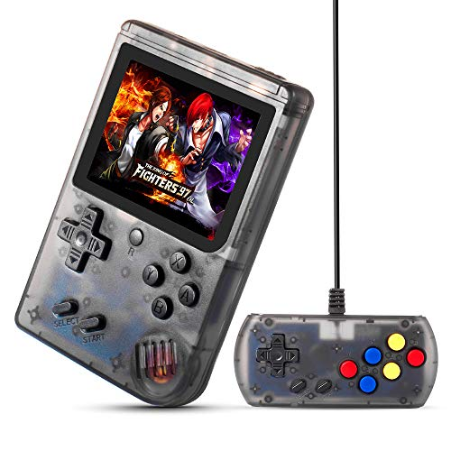 MEEPHONG Handheld Game Console, TV Output Retro FC Plus Extra Joystick NES Classic Game Console Built-in 168 Handheld Video Games (Black Transparent) (Best Street Fighter Game For Ps2)