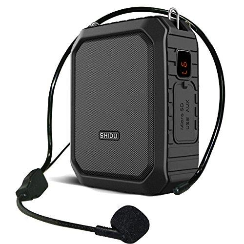 Amplificador de voz Bluetooth microfono con altavoz,18W voice amplifier impermeable personal portátil recargable de,para de altavoz maestros, guías turísticos, yoga, profesor ect