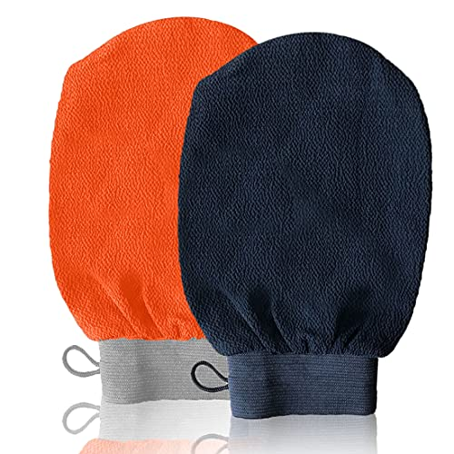 Guanto Esfoliante - Guanto di Crine - Guanto Kessa - Scrub Naturale ed Efficace - Corpo e Viso per donne e uomini - pulisce e Purifica la Pelle