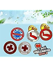 Edgmlxg Covid-19 Vaccinated Pin Buttons, Vaccinated Enamel Button Pin Shot 2021 Lab Coat Jacket Backpack Brooch Vaccine, Covid Vaccine Metal Brooches Badge, Novelty Buttons & Pins