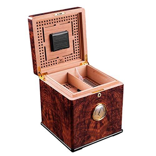 Rangements Caves À Cigares 100 Armoire D'hydratation De Grande Capacité Boîte De pour Deux Cigares Humidor Cedarwood Equipé d'un Humidificateur Et d'un Hygromètre