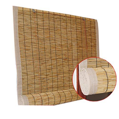Bamboo Curtain Roller Shade Blinds Outdoor Roll Up Shade for Deck Yard Gazebo Pergola Patio Porch Carport,Customizable