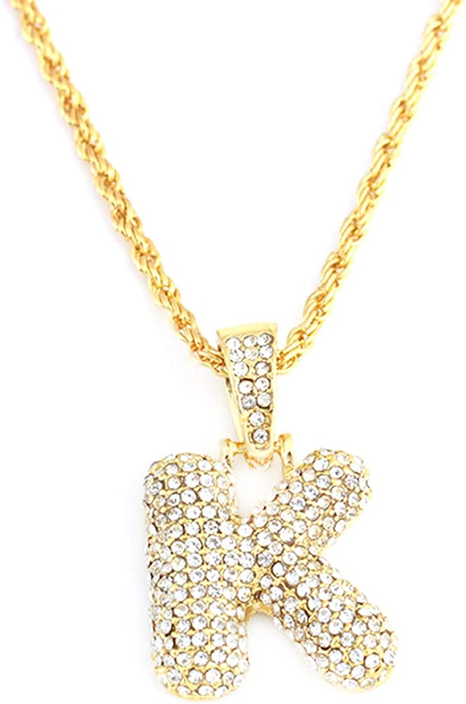 Alloet 26 Letters Necklaces Gold Chain Pendant Women Girl Fashion Jewelry Gifts