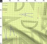 Mathe, Kompass, Zahlen, Ingenieurwesen, Gelb, Quadrille