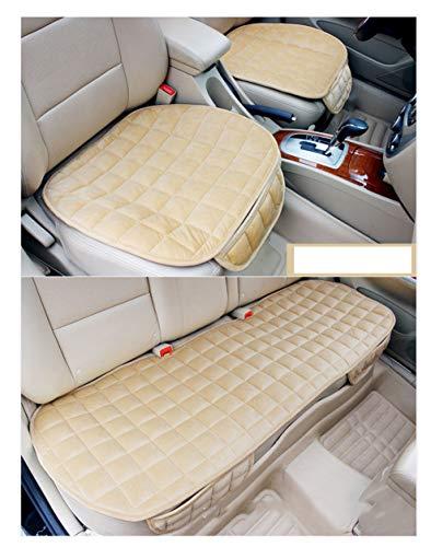 GUOCU Auto Sitzkissen Kissen - Bambuskohle Atmungsaktiv Auto Sitzkissen Kissen,Beige,Vordersitz & Rücksitz