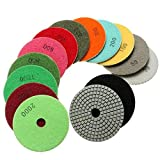 YBB-YB YankimX 14pcs 4 Pulgadas 100mm 30-3000 Grit húmedo Diamond/tampones for pulir en seco Set Productos abrasivos y de Acabado