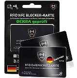 MakakaOnTheRun Nos RFID NFC Blocker - Tarjeta de crédito (ISO), Black RFID Blocker - Juego de 2 Carteras (Negro) - BCBlack2