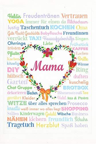 Cartel de Chapa genérica 20 x 30 cm mamá día de la Madre corazón Amor héroe Taxi Metal Cartel