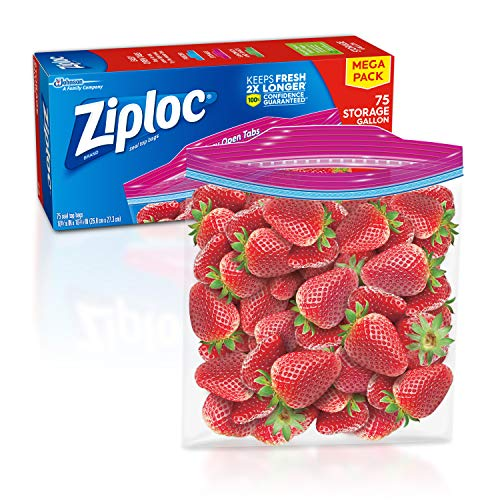 Buy Cheap Ziploc Storage Bags, For Food, Sandwich, Organization and More, Smart Zipper Plus Seal, Ga...