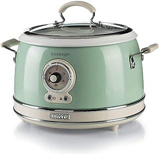 Ariete 2904, Rice Cooker, Cuiseur à Riz Slow Cooker, Cuisson à Vapeur, Ligne Vintage, 3,5 L, Revêtement Céramique Antiadhé...