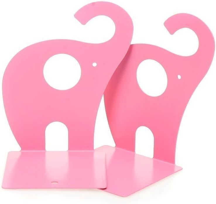 1pair Pink Cute Elephant Nonskid Bookends San Antonio Mall Organiz Book Rack Ranking TOP17