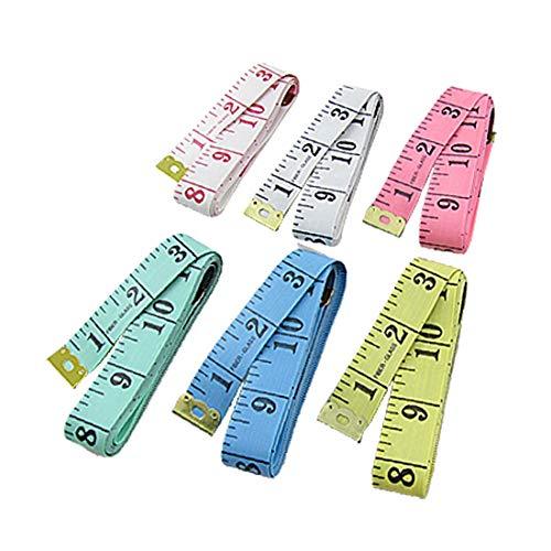 X-DREE 6 piezas, costurera de colores, sastre, tela de costura, regla, cinta métrica, 60' ', 150 cm (6 pièces colorées Tailor Couturière Couture Tissu Ruler ruban 152,4 cm 150 cm