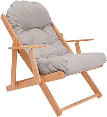 Amazon.com: Folding Recliner Adjustable Lounge Chair Padded ...