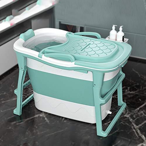 YILUFA Bañera Pequeña Bañera Baño Plegable Baño Baño para Adultos Azul(Color:Verde)