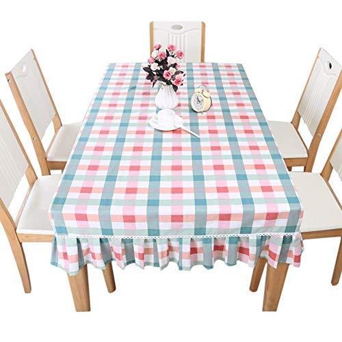 Peijco tafelkleed rechthoekig rooster salontafel keukentafel oplegger (afmetingen: 80 * 120 + 25 cm)