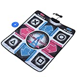 Jadeshay Dance Pad, Non-Slip Durable Wear-Resistant Dancing Step Dance Mat Pad Dancer Blanket t with USB for PC