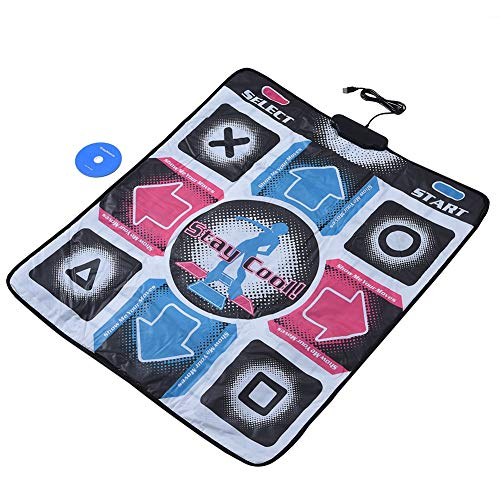 PUSOKEI Side Dance Mat for Kids Adults, Non-Slip wear-Resistant Dancing Step Dance Mat USB Connection PC TV Interface Running Yoga Blanket,Multifunctional Dancing mat,Plug and Play