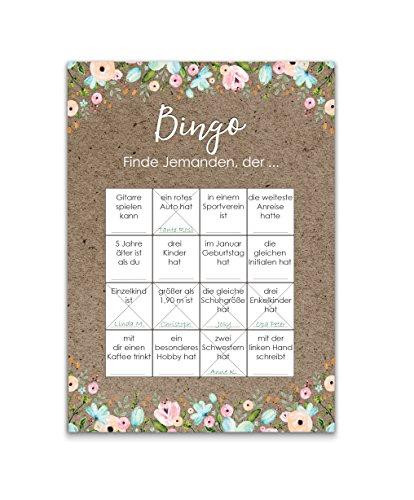Bingokarten   Hochzeitsspiel 50 Stück - 3