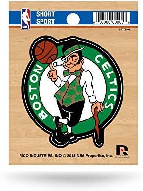 NBA Rico Industries Die Cut Team Logo Short Sport Sticker Boston Celtics product image