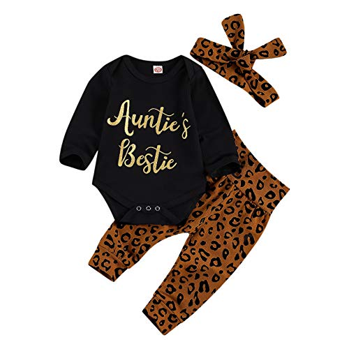 Newborn Baby Girl Leopard Outfits Auntie