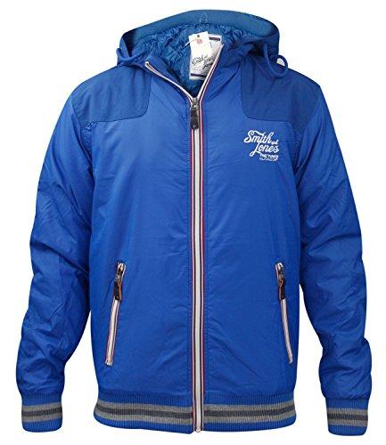 Mens Smith and Jones Errial Winter Zip Up Jacket BLU S