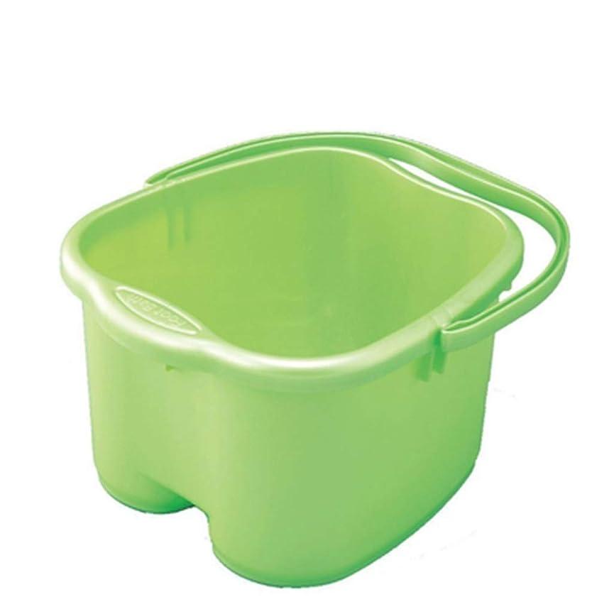 こどもの宮殿手首小間ポータブルマッサージ浴槽ふた付きフットバスバケツ保温足洗面台家庭用プラスチック Sfe8w XM1209-9-3-10 (Color : G)