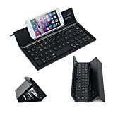 Ovegna CL8 : Portable and Foldable Wireless Bluetooth Keyboard for Smartphones, Tablets (Android, iPad), Laptops, Games Consoles for iOS, Android, Windows, Linux