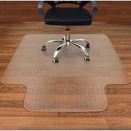 AiBOB Office Chair mat for Hardwood Floor, 53 x 45 inches, Easy Glide for Chairs, Flat Without Curling