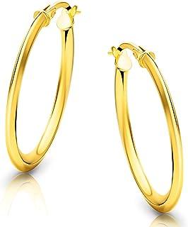 Orovi Orecchini Donna Cerchio in Oro Giallo Oro 18 kt /750