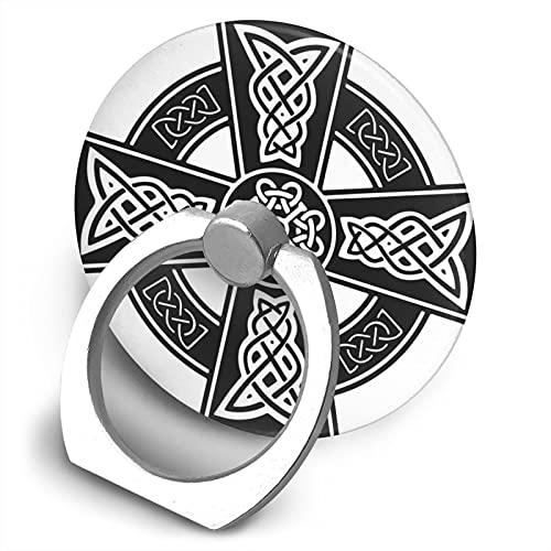 Celtic Cross Ancient Celtic Symbols Phone Ring Holder, Finger Holder, 360° Rotating Foldable Phone Holder and Handle, Suitable for All Smartphones