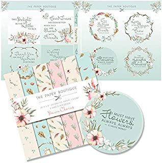 The Paper Boutique Dawn Chorus Paper Kit 8x8 Paper Pad & Die Cut Toppers 300gsm