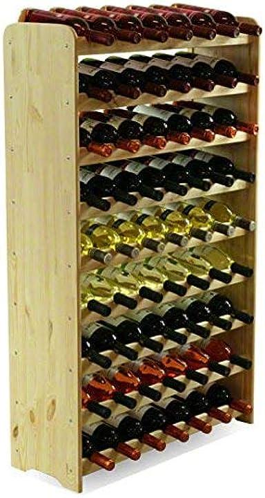 Scaffale vino, per 63 bottiglie, legno, non trattato, 118,4x72,2x26,5 cm, 8 unità modo24 B00UL892SW