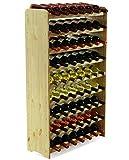 MODO24 Estantería de Botellas de Vino Armario Soporte botellero para 63Botellas de Vino...
