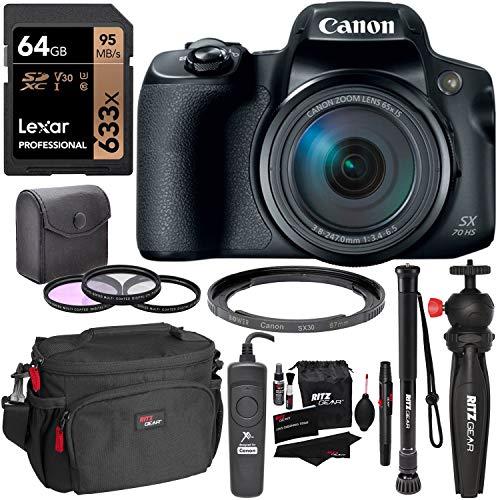 Canon Powershot SX70 HS with Bundle