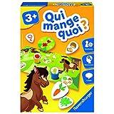 Ravensburger- Jeu Educatif- Qui mange quoi ?- Découverte des animaux- A partir de 3 ans- 24034