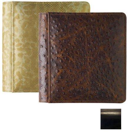 ROMA BLACK #103 smooth grain leather 1-up 5x7 album by Raika - 5x7 by Raika