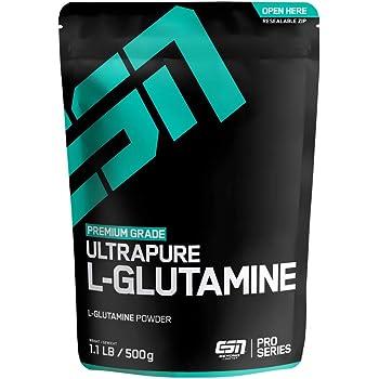 ESN Ultrapure L-Glutamine – 500 g – hochwertiges ultrafeines L-Glutamin Pulver – 100 Portionen – vegan – Made in Germany