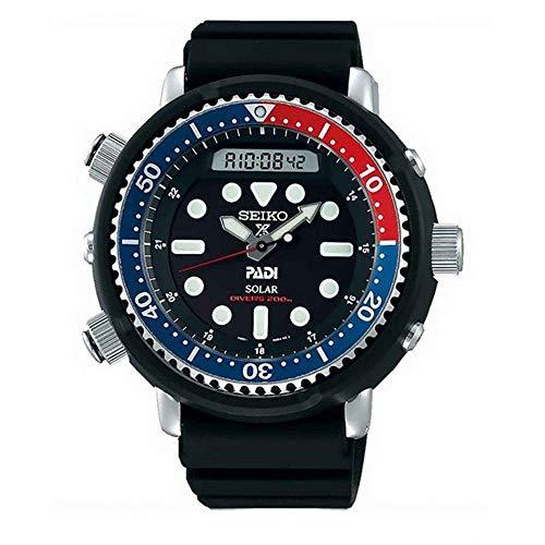 "Seiko Prospex""Arnie"" Re-Issue Sports Solar Diver's 200M Pepsi Bezel Watch SNJ027P1"