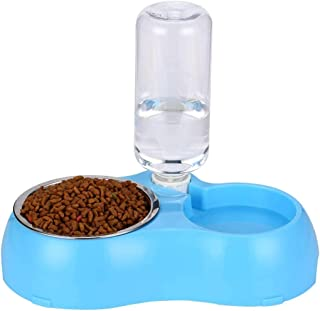 Mumoo Bear Dogs and cats are automatically drinking water to feed double bowls pet rice bowls