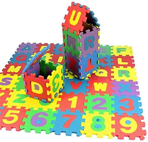 36 PCS Baby Play Mat Kids Alfabeto Letras Puzzles EVA Matera Matura Matemáticas Cuentas Contando Juguetes Educativos Piso Soft Carpet Azulejos Camping Manta for niños Baby Baby Paly IQ Brain Steaser