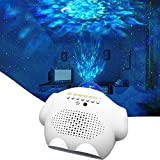 Star Night Light Projector, Galaxy Projector for Adults Gifts Ceiling Nebula Galaxy Star Light Projector with Voice Control,Ocean Wave Projector Light for Baby Kids Gift Home Decor Bedroom Living Room