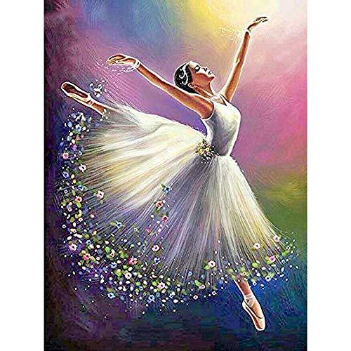 Pintura al óleo de bailarina de ballet por número en lienzo pintura acrílica para adultos dibujo de imagen para colorear por números decoración A13 50x65cm