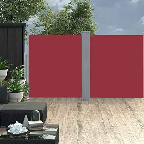 Ausziehbare Seitenmarkise Rot 160 x 600 cm